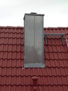 Dach Schornstein Einfassung